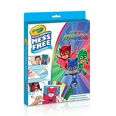 NEW Crayola PJ Masks Mess Free Color Wonder Kit with 6 markers included