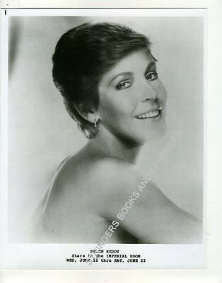 ORIGINAL PROMOTIONAL PHOTO HELEN REDDY Imperial Room Royal York Hotel Toronto
