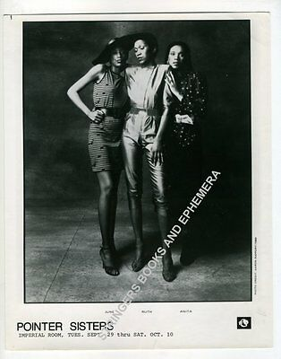 Original Promotional Photo The Pointer Sisters Imperial Room Royal York Hotel