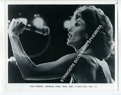 ORIG PROMOTIONAL PHOTO RITA MORENO THE IMPERIAL ROOM ROYAL YORK HOTEL Toronto