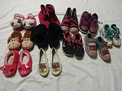 Girl's Shoes Sneaker Slippers Lot Sizes 9-13.5