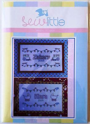 Baby Bunting Name Wallhanging Embroidery / Stitchery Pattern Design