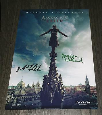 """Assassin's Creed Pp Signed 12""""x8"""" A4 Photo Poster Michael Fassbender Assassins"""