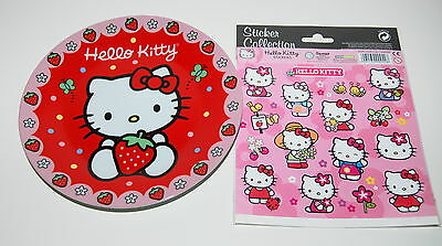 NEU Original SANRIO Hello Kitty SAMMELTELLER Porzellan KINDER TELLER + Sticker