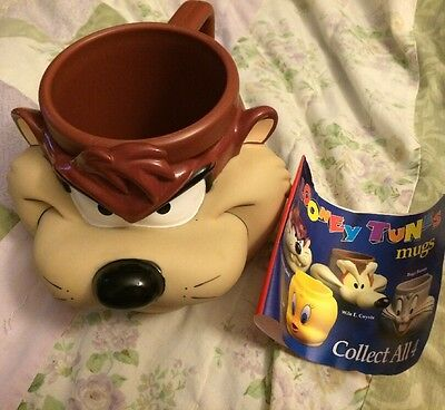 Looney Tunes Plastic TAZ Tasmanian Devil Mug from Kentucky Fried Chicken KFC