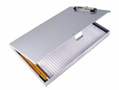 Saunders Recycled Aluminum Tuff-Writer Storage Clipboard Letter Size Silv... NEW