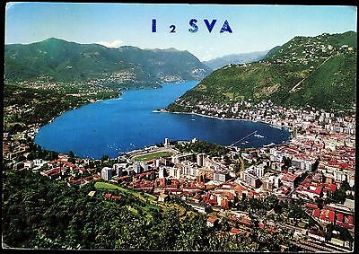 """QSL QSO RADIO CARD """"Como and First Basin of The Lake,Alex"""", Italy (Q3000)"""