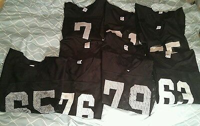Lot of 12 Practice Football Jersey Athletic Russell  Sports Black  White