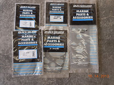 Mercury Mariner Quicksilver Parts, LOT OF 7 GASKETS 27-193901 TO 27-89937
