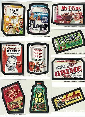 Wacky Packages 1973 Series 7 Complete set of 33, Wrapper & Puzzle/Checklist set