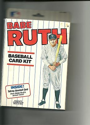 Officially Licensed Babe Ruth Baseball Card Kit never opened MINT