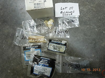 Mercury Mariner Quicksilver Parts, LOT OF 21 SLEEVE, SPACER, BUSHING