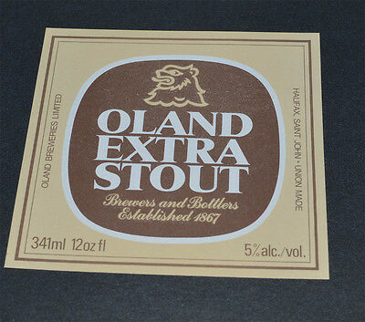 Beer label Oland Extra Stout Oland Breweries Limited Canada