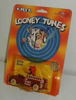 Ertl, Looney Tunes Daffy Duck Fire Truck (Dated 1989) Warner Brothers