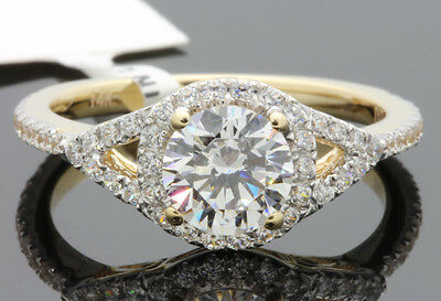 1.41 Carat 14K Solid Yellow Gold Engagement Ring Solitaire Anniversary Bridal