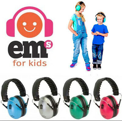 Em's For Kids Children's Earmuffs Sensory Hearing Protection 4 Colours Ear Muffs