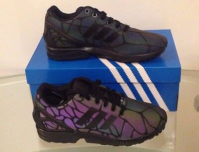 low priced 1ff0b 03a61 NEW ADIDAS ORIGINALS ZX FLUX XENO Reflective Snake 3M Core Black S79353  Size 4-8
