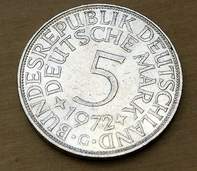 1972 G Germany 5 Mark Silver