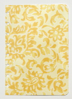 "New CUSTOM COVER *Yellow Scroll * for CIRCA Notebook JUNIOR Size ~ 6"" x 8.5"""