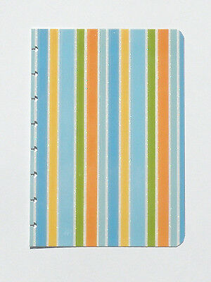 "New CUSTOM COVER * Blue Stripes * for CIRCA Notebook JUNIOR Size ~ 6"" x 8.5"""