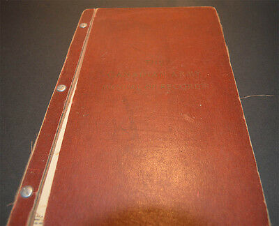 The Canadian Army Manual of Records 1955 Book Hardcover