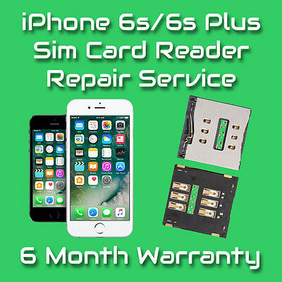 Apple iPhone 6s / 6s Plus Sim Card Reader Slot Repair Replacement Service