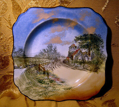 Royal Doulton *english Cottages* Series D4390 Square Dish/plate Made In England