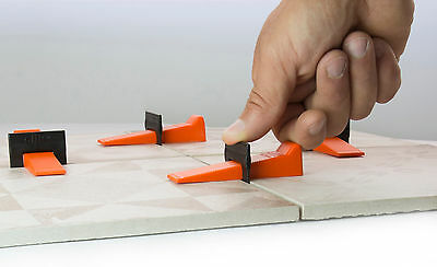 Tile Leveling System - 500 Clips + 250 Wedges Free