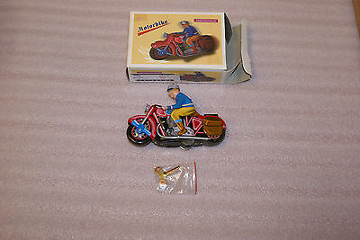 Tin Lithograph Wind up Clockwork Motorbike Motorcycle With Box Vintage China