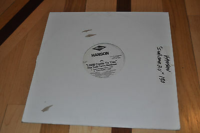 "RARE Hanson I Will Come To You (Todd Terry Remixes) 12"" Vinyl US Promo Record!"