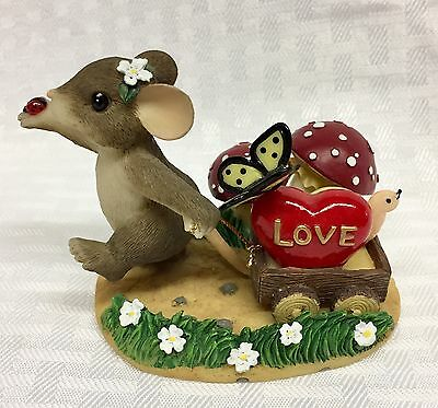 """Charming Tails Fitz Floyd """"Bringing Along A Little Love"""" Special Edition #98/245"""