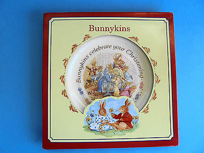 Royal Doulton Bunnykins Christening Plate Like New In Box