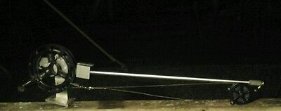 "Big Jon Manual downrigger W/ solid aluminum rod good condition 30"" boom  counter"