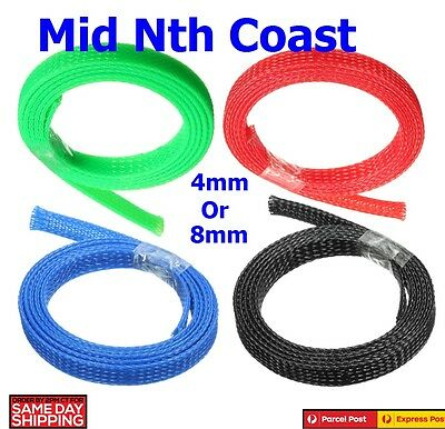 4/8/10mm Braided Cable Sheathing Wire Tidy Mesh Sleeving Expanding Wire Harness