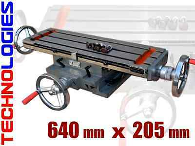 """COMPOUND TABLE  640 x 205 mm FOR MILLING DRILLING MACHINE! 25"""" x 8"""""""