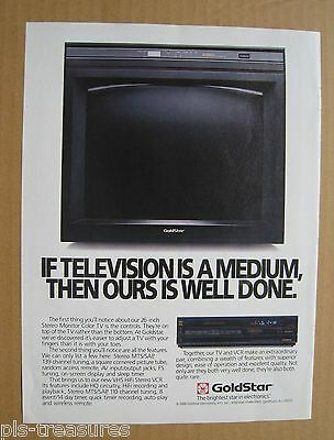 1988Goldstar TV and VCR Color AD