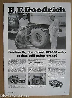 1955 BF Goodrich Trucks Tires - Traction Express AD