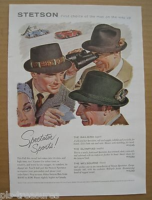 1956 Stetson Hats / Early Times Kentucky Whisky Color AD