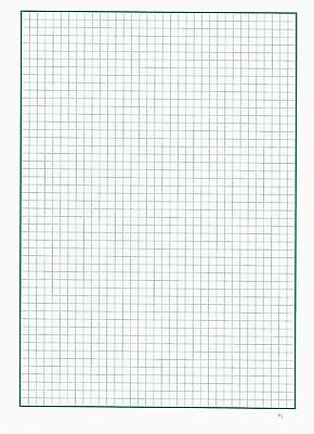 Graph Paper A4, 5mm x 5mm squares, 20 sheets