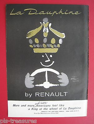 1957 Renault - King at the wheel of La Dauphine AD