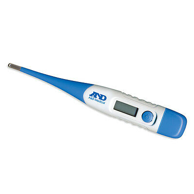 A&D Medical Digital Thermometer with Flexi-Tip Body Temperature Indicator