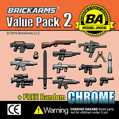 Brickarms Value Pack 2 - Can be used with Lego BNIP