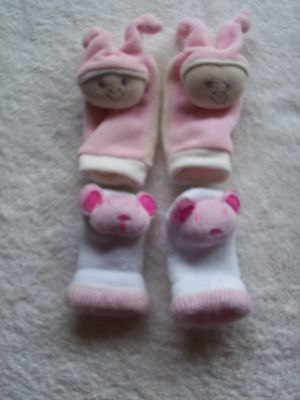 Baby Girl's 2 Pack Socks Size 0-3M VGUC
