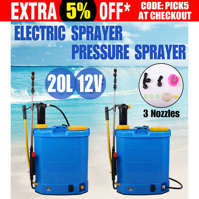 WACWAGNER 2 IN 1 Electric knapsack Sprayer Weed Farm Garden Pump Chemical 12V