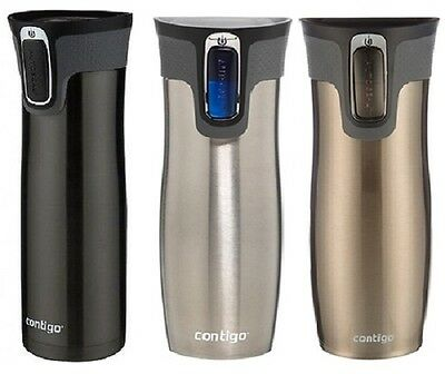 Contigo Autoseal West Loop Stainless Steel Travel Mug with Easy-Clean Lid, 20 oz