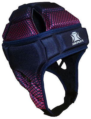 NEW IRB Approved IMPACT Rugby Headguard Scrumcap Union League Navy Pink