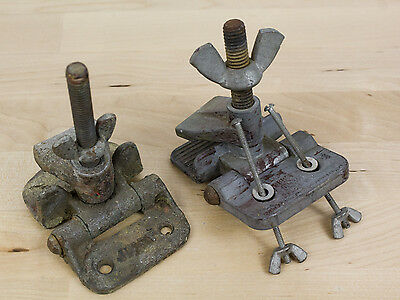 VTG Lot of 2 Jiffy Hinge Butterfly Clamps Screen Printing Registration Holder