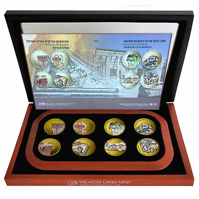 Israel Ancient Mosaics of the Holy Land Pure Gold 9999 24k Medals 2014