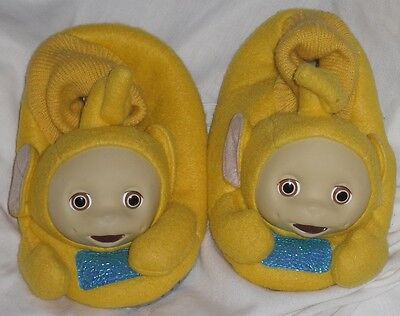 VTG. Rare1998 YELLOW Teletubbies Toddler Slippers Factory Irregulars Sold AS IS