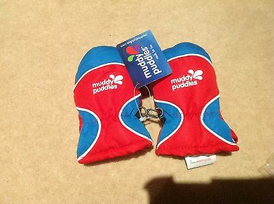 NWOT WATERPROOF MITTENS FLEECE LINED VERY WARM THE GR8 MUDDY PUDDLES £12 0-2 yrs